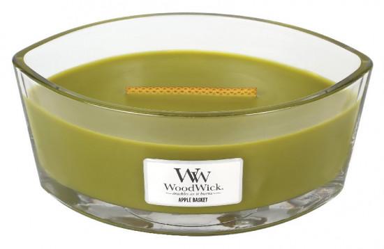Aromatická svíčka loď, WoodWick Apple Basket, hoření až 40 hod-563