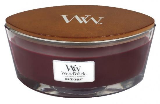 Aromatická svíčka loď, WoodWick Black Cherry, hoření až 40 hod-1072