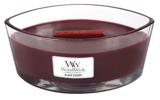 Aromatická svíčka loď, WoodWick Black Cherry, hoření až 40 hod-544