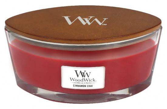 Aromatická svíčka loď, WoodWick Cinnamon Chai, hoření až 40 hod-625