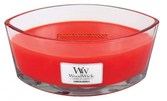 Aromatická svíčka loď, WoodWick Crimson Berries, hoření až 40 hod-152