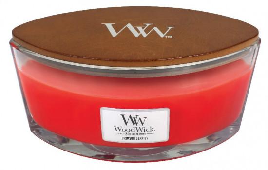 Aromatická svíčka loď, WoodWick Crimson Berries, hoření až 40 hod-157