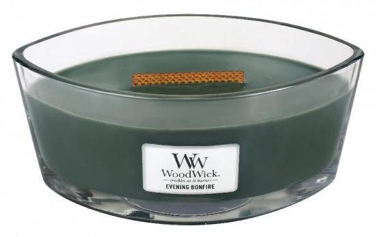 Aromatická svíčka loď, WoodWick Evening Bonfire, hoření až 40 hod-1257