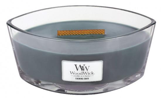 Aromatická svíčka loď, WoodWick Evening Onyx, hoření až 40 hod-472
