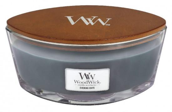 Aromatická svíčka loď, WoodWick Evening Onyx, hoření až 40 hod-676