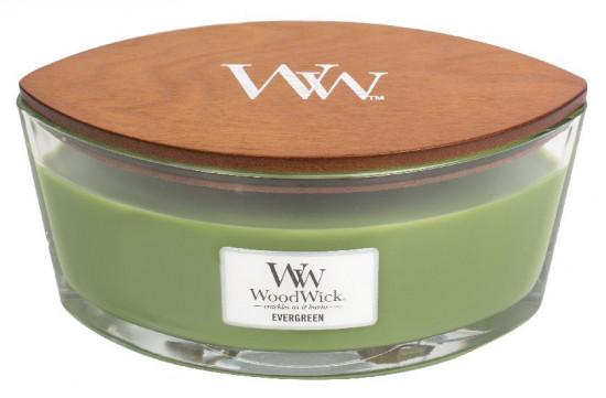 Aromatická svíčka loď, WoodWick Evergreen, hoření až 40 hod-1039