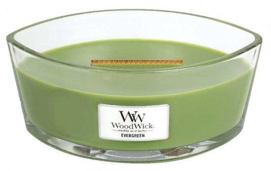 Aromatická svíčka loď, WoodWick Evergreen, hoření až 40 hod-1235