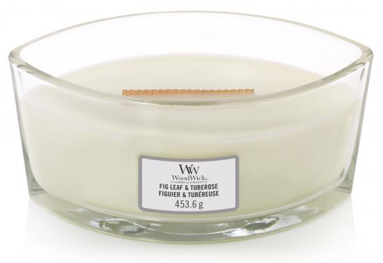 Aromatická svíčka loď, WoodWick Fig Leaf & Tuberose, hoření až 40 hod-803