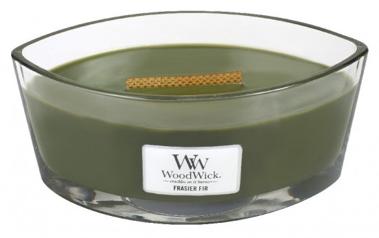 Aromatická svíčka loď, WoodWick Frasier Fir, hoření až 40 hod-1155