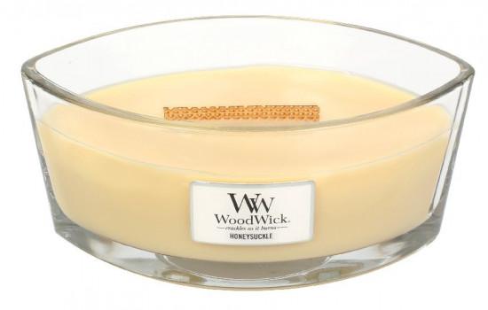 Aromatická svíčka loď, WoodWick Honeysuckle, hoření až 40 hod-1116