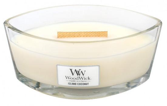 Aromatická svíčka loď, WoodWick Island Coconut, hoření až 40 hod