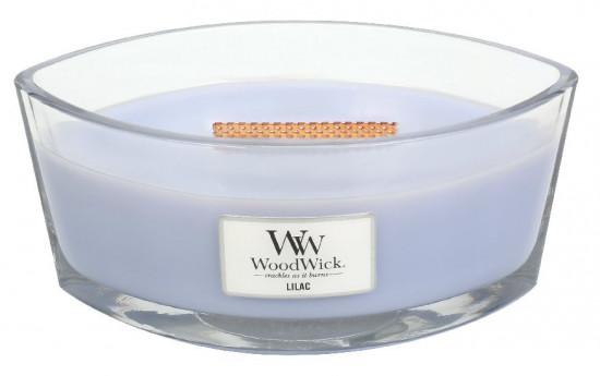 Aromatická svíčka loď, WoodWick Lilac, hoření až 40 hod-351