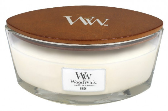 Aromatická svíčka loď, WoodWick Linen, hoření až 40 hod-41