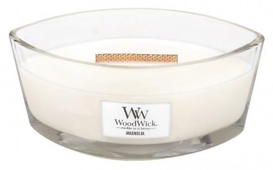 Aromatická svíčka loď, WoodWick Magnolia, hoření až 40 hod-1269