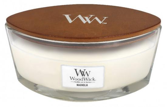 Aromatická svíčka loď, WoodWick Magnolia, hoření až 40 hod-958
