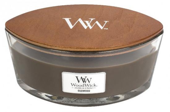 Aromatická svíčka loď, WoodWick Oudwood, hoření až 40 hod-617