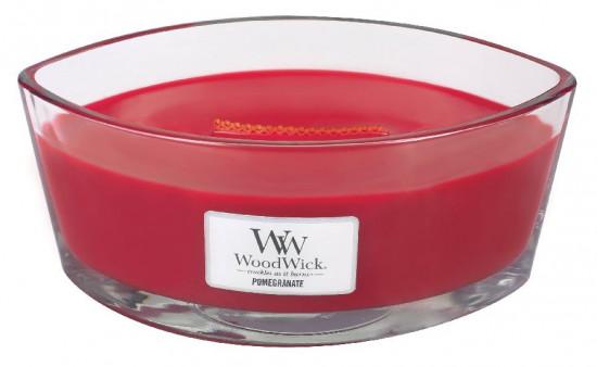 Aromatická svíčka loď, WoodWick Pommegranate, hoření až 40 hod-1132
