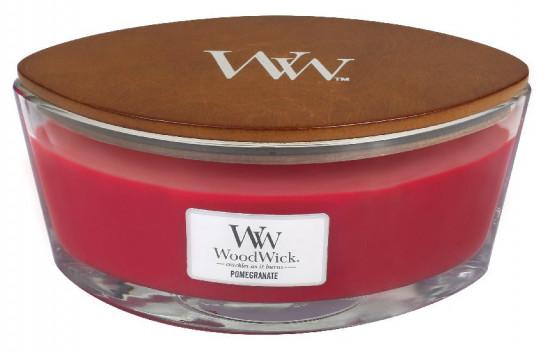 Aromatická svíčka loď, WoodWick Pommegranate, hoření až 40 hod-237