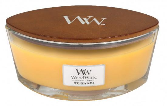 Aromatická svíčka loď, WoodWick Seaside Mimosa, hoření až 40 hod-1067