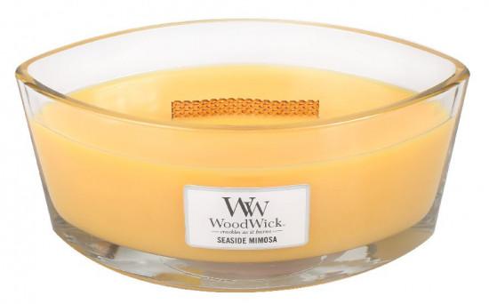 Aromatická svíčka loď, WoodWick Seaside Mimosa, hoření až 40 hod