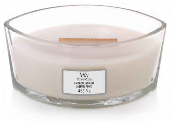 Aromatická svíčka loď, WoodWick Smoked Jasmine, hoření až 40 hod