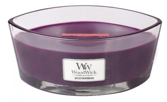 Aromatická svíčka loď, WoodWick Spiced Blackberry, hoření až 40 hod-1150