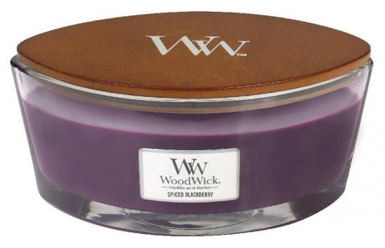 Aromatická svíčka loď, WoodWick Spiced Blackberry, hoření až 40 hod