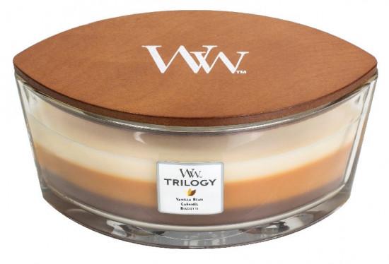 Aromatická svíčka loď, WoodWick Trilogy Café Sweets , hoření až 40 hod-924