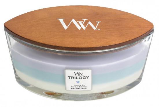 Aromatická svíčka loď, WoodWick Trilogy Calming Retreat, hoření až 40 hod-1041