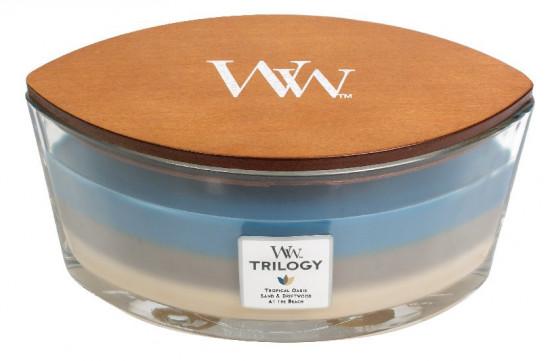 Aromatická svíčka loď, WoodWick Trilogy Nautical Escape, hoření až 40 hod-1255