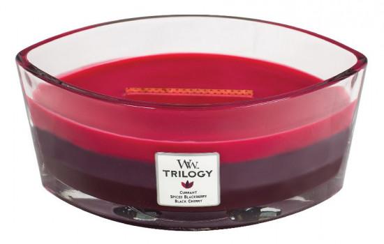 Aromatická svíčka loď, WoodWick Trilogy Sun Ripened Berries, hoření až 40 hod-1009