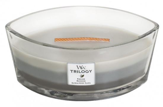 Aromatická svíčka loď, WoodWick Trilogy Warm Woods, hoření až 40 hod-684