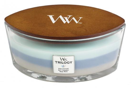Aromatická svíčka loď, WoodWick Trilogy Woven Comforts, hoření až 40 hod-483