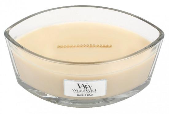 Aromatická svíčka loď, WoodWick Vanilla Bean, hoření až 40 hod