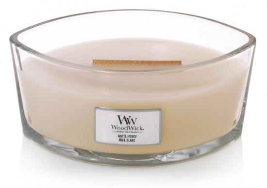 Aromatická svíčka loď, WoodWick White Honey, hoření až 40 hod-1138