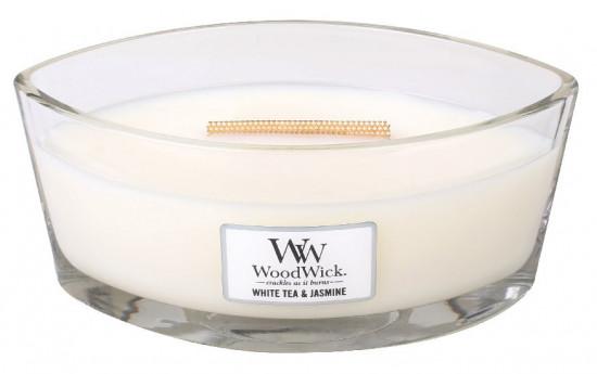 Aromatická svíčka loď, WoodWick White Tea & Jasmine, hoření až 40 hod-1052