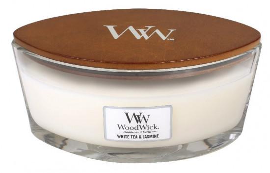 Aromatická svíčka loď, WoodWick White Tea & Jasmine, hoření až 40 hod-965