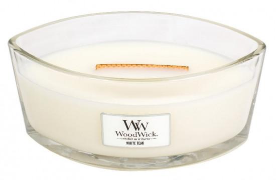 Aromatická svíčka loď, WoodWick White Teak, hoření až 40 hod-214