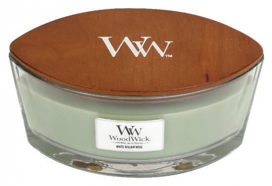 Aromatická svíčka loď, WoodWick White Willow Moss, hoření až 40 hod-626