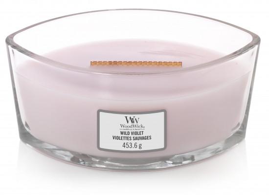 Aromatická svíčka loď, WoodWick Wild Violet, hoření až 40 hod