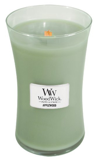 Aromatická svíčka váza, WoodWick Applewood, hoření až 120 hod-1192