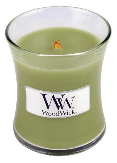 Aromatická svíčka váza, WoodWick Applewood, hoření až 30 hod