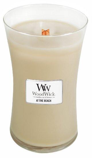 Aromatická svíčka váza, WoodWick At the Beach, hoření až 120 hod