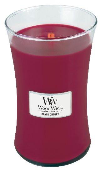 Aromatická svíčka váza, WoodWick Black Cherry, hoření až 120 hod-275