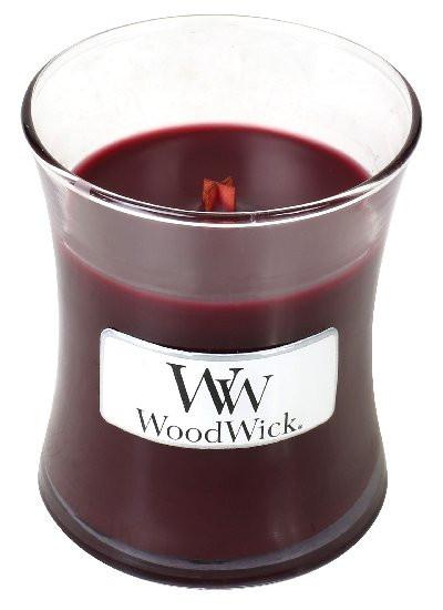 Aromatická svíčka váza, WoodWick Black Cherry, hoření až 30 hod-133
