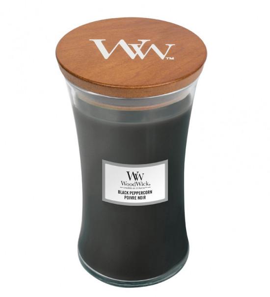 Aromatická svíčka váza, WoodWick Black Peppercorn, hoření až 120 hod-4744