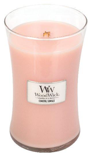 Aromatická svíčka váza, WoodWick Coastal Sunset, hoření až 120 hod