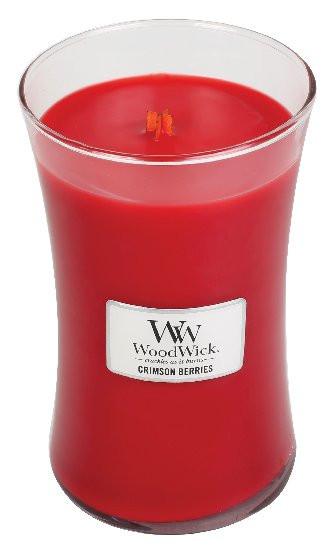 Aromatická svíčka váza, WoodWick Crimson Berries, hoření až 120 hod-302