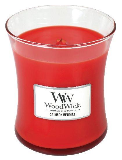 Aromatická svíčka váza, WoodWick Crimson Berries, hoření až 65 hod-646