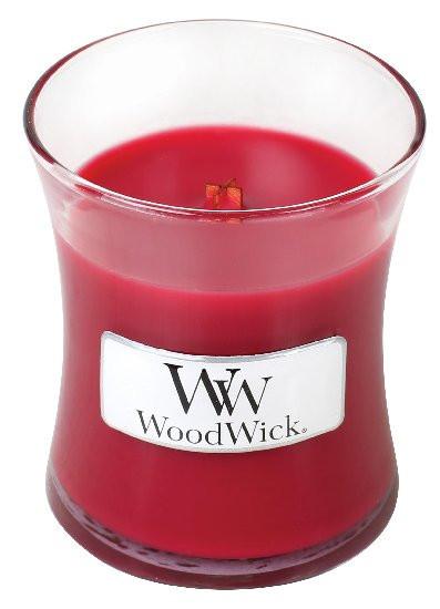Aromatická svíčka váza, WoodWick Currant, hoření až 30 hod-1070